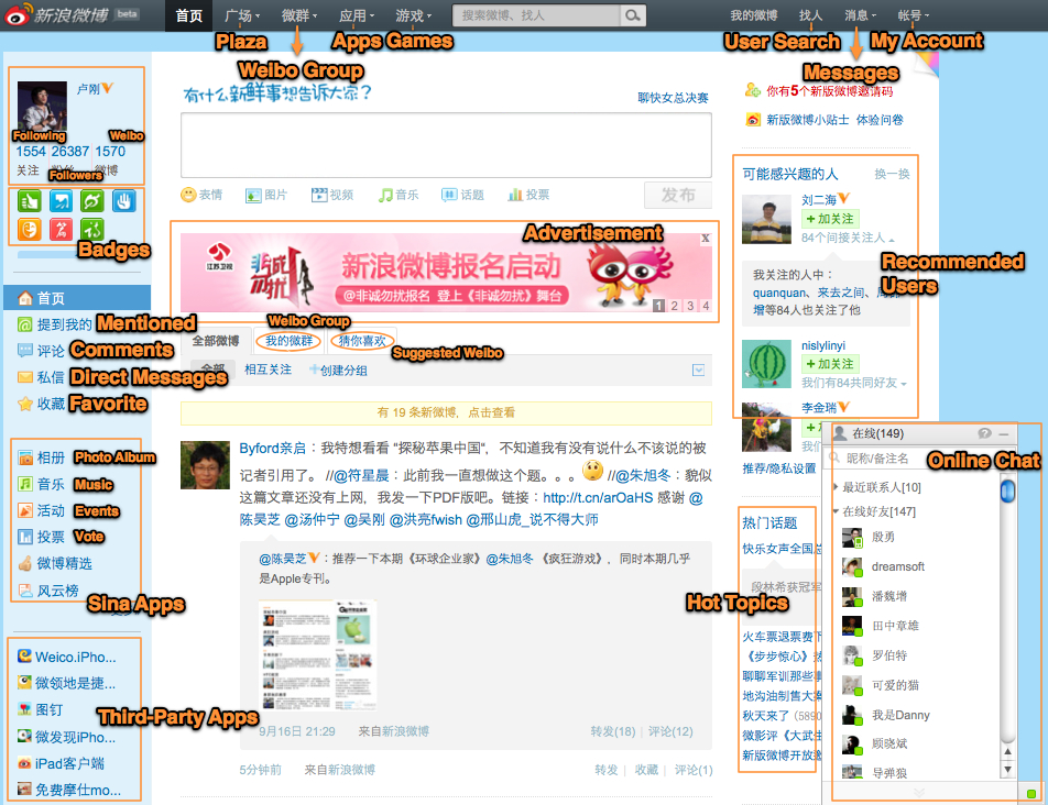 Le microblogging sur Weibo en recul en Chine