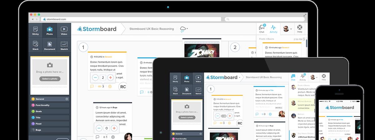 Stormboard, un outil de brainstorming en ligne
