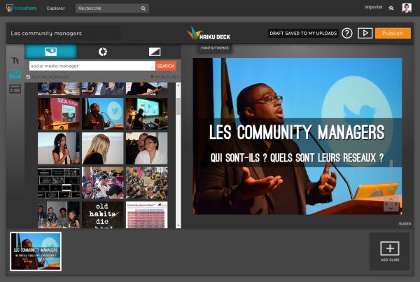 Créer de belles présentations SlideShare avec Haiku Deck @BlogduModerateur