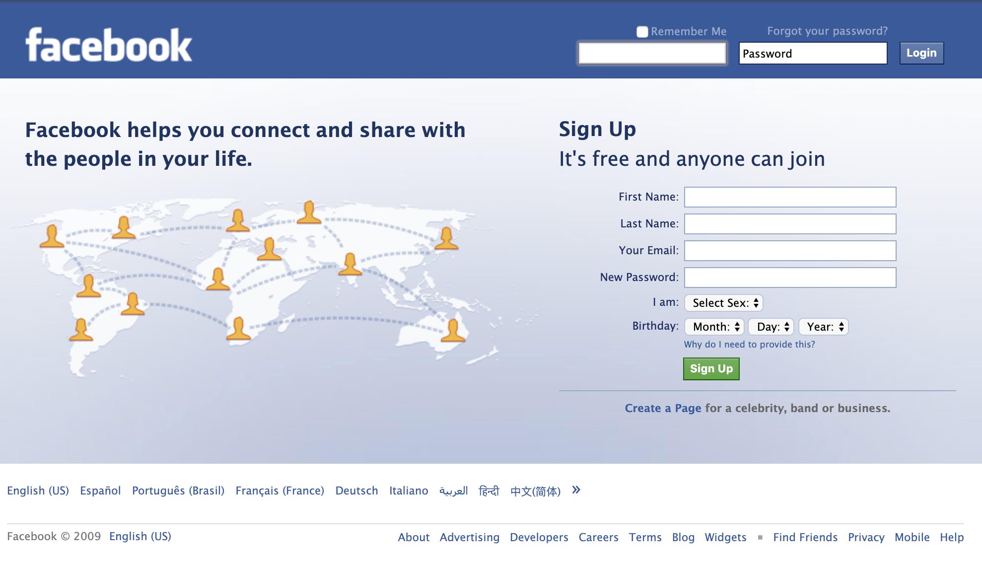 Facebook_en_2009